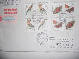Tchequie Lettre De Benesov 1999 Pour Kreusitz  Avec 2 Blocs - Tchéquie