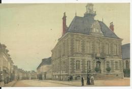 CARTE TOILE COULEUR SANS NOM A IDENTIFIER DE VILLE ANIMEE MAIRIE HOTEL DE VILLE CHARCUTERIE ROUSEE CARTE NEUVE CPA BE - France