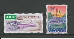 #Guinée Scott 202, C25 Yvert 40, PA12 ** (2) Surcharge - Guinée (1958-...)