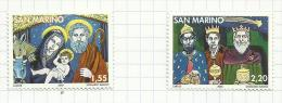 Saint-Marin N°2037, 2038 Neufs  (sous Faciale) - Saint-Marin