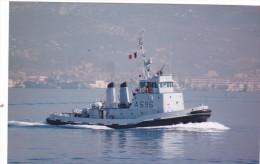 Batiment Militaire Marine Francaise Remorqueur A 696 Buffle Signee Martinelli 1989 Couleur - Boats