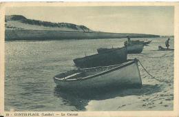 29 - CPA - CONTIS-PLAGE - Le Courant - 1928  -  (noir&blanc) - - Francia