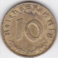 ALLEMAGNE . 10 REICHSPFENNIG 1938 J (HAMBOURG)