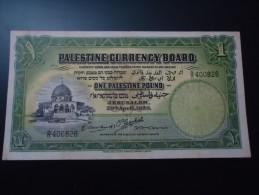 1939 PALESTINE ULTRA VERY VERY RARE 1 POUND ( P 7c )