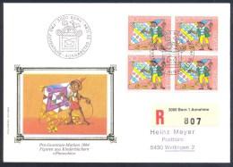 Switzerland Suisse Schweiz 1984 Registered Cover: Pro Juventute Märchenszenen; Fairy Tails; Pinocchio - Carlo Collodi - Schweiz