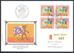 Switzerland Suisse Schweiz 1984 Registered Cover: Pro Juventute Märchenszenen; Fairy Tails; Pinocchio - Carlo Collodi - Suiza