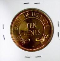 @Y@  Oeganda    Ten  Cents  1966 BU    (2816) - Ouganda