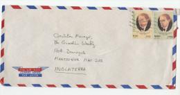 Air Mail ECUADOR COVER Stamps 3.00 10.60 REMIGIO ROMERO Poet To GB - Ecuador