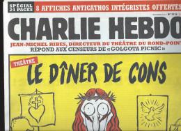 CHARLIE HEBDO    7 Décembre 2011  N° 1016 Couverture De Catherine NEUF - Humour
