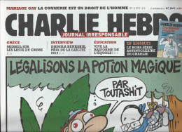 CHARLIE HEBDO    17 Octobre 2012  N° 1061  Couverture De LUZ   NEUF - Humour