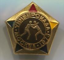WRESTLING - Russia, Soviet Union, Pin, Old Badge - Worstelen