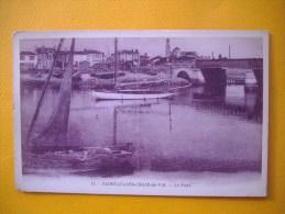 Cpa  SAINT GILLES CROIX DE VIE  -  85  -  Le Pont  -   Vendée - Saint Gilles Croix De Vie