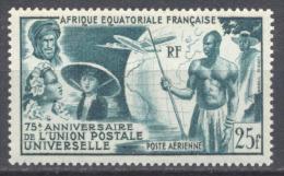 A.E.F. Poste Aérienne YT N°54 Union Postale Universelle Neuf/charnière * - A.E.F. (1936-1958)