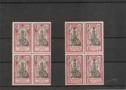 Inde Française ( 46 Et 47 En Bloc De 4 X Et XXX -MH Et MNH) - India (1892-1954)