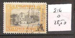 Colombie 214 Oblitéré Côte 28.50 € - Colombia