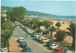 K2521 Vasto Marina (Chieti) - Il Lungomare - Auto Cars Voitures / Viaggiata 1988 - Italien