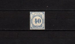 Kenya & Uganda 1928 Michel  P5 Postage Dues, 40c MLH - Kenya, Uganda & Tanganyika