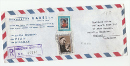 1970 REGISTERED Air Mail COVER VENEZUELA  Stamps 1.00 MARTIN LUTHER KING  0.80 - Martin Luther King
