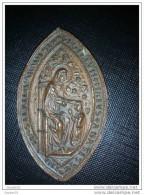 Sceau Ogivale Du XVème Siècle De L'abbaye Du Paradis En Italie ( Voir Description ) - Archéologie