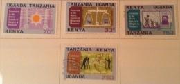Kenya Uganda Tanzania Used/MH (o/mh**). 1971 Sc 225/228 - Kenya, Uganda & Tanganyika