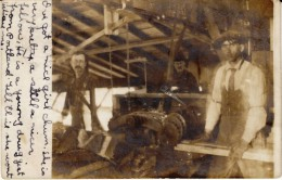 Saint Johns Oregon, Men Work With Wood, Saw Mill Or Lumber Yard(?), C1900s Vintage Real Photo Postcard - United States