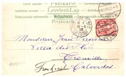21529  Helvetia, Vevey,  Trouville Calvados, 1902 - Used Stamps