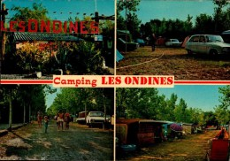 """34-VIAS SUR MER..CAMPING """"LES ONDINES""""..4 VUES....CPM - Autres Communes"""