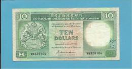 HONG KONG - 10 DOLLARS - 1988 - P 191.b - 2 Scans - Hong Kong