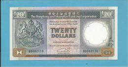 HONG KONG - 20 DOLLARS - 1989 - P 192.c - AUNC. - 2 Scans - Hong Kong