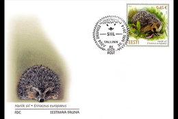 ESTONIA 2014. FDC. ESTONIAN FAUNA HEDGEHOG - Roedores