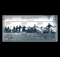 ESTONIA 2014. Miniature Sheet. 25th Ann Of The Baltic Chain. Joint Estonian, Latvian & Lithuanian IssueBuy Set - Emissions Communes