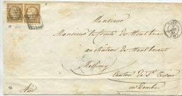 n� 1 paire + Grille  / lettre sign�e de Lyon pour le chateau de Montbriand , canton de St Trivier en Dombe (ain)