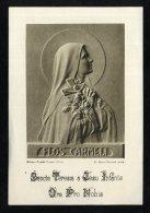 1950-image Pieuse-63     Image Pieuse Flos Carmeli Sadag Paris  Abbaye Grande Trappe Orne - Images Religieuses