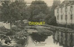 Cpa 56 Pont-Scorff, Bords Du Scorff, Laveuses ..., Verso Cachet 62ème R I , 1915 - Pont Scorff