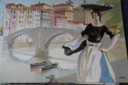 Ondarroa Estampes Basques Illustrateur Guenaga - España