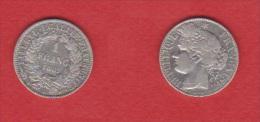 CERES  //   1  FRANC 1887 A  //   ETAT  TTB - Francia