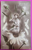 Cpa N° 649 Art Nouveau A La Folie  Femme Marguerite Amour Carte Postale Manon 1914 - Cartes Postales