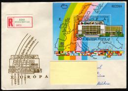 UNGARN 1983 - Flaggen Der KSZE Mitglieder In Europa - Block 168A Reko Brief - Briefe
