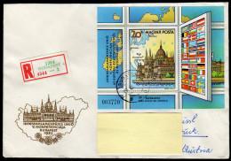UNGARN 1983 - Flaggen Der KSZE Mitglieder In Europa - Block 163A Reko Brief Nach Innsbruck - Briefe