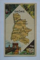 Chromo  - DEPARTEMENT DE LA DROME  105 X 65 - CHOCOLAT TURENNE - Autres