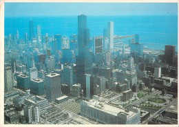 RARE CHICAGO AN AERIAL VIEW OF THE DOWNTOWN AREA - Chicago