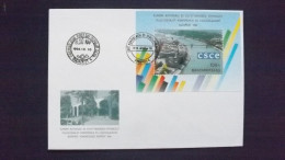 Ungarn 4318 Block 232 FDC, 50 Jahre Europarat - FDC