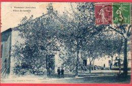 CPA 07 VERNOUX En VIVARAIS  Place Du Temple ( église Protestante Près LA VOULTE - Vernoux