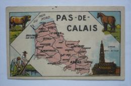 Chromo  - DEPARTEMENT DU PAS DE CALAIS   - CHOCOLAT TURENNE - 105 X 65 - Autres