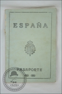 Old 1930 Spain Passport - Pasaporte - Passeport With Stamp And Postmark - King Alfonso XIII - Documents Historiques