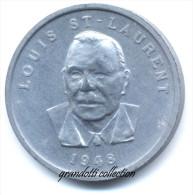 OTTAWA CANADA LOUIS ST LAURENT 1948 GETTONE MONETALE PERSONAGGI FAMOSI - Monetari / Di Necessità