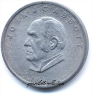 OTTAWA CANADA JOHN JC ABBOTT 1891 GETTONE MONETALE PERSONAGGI FAMOSI - Monétaires / De Nécessité