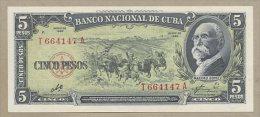 Cuba - 5 Pesos  1960  P91c  Uncirculated  ( Banknotes ) - Cuba