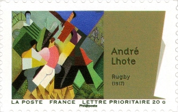 YTA701 FRANCE An.2012 Autoadhésif Art : André Lhote - Rugby - Francia