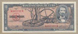Cuba - 10 Pesos  1960  P88c  Uncirculated  ( Banknotes ) - Cuba